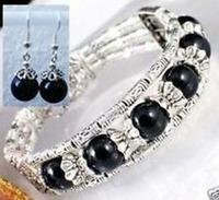 6-color charming Tibetan gem purple jade bracelets earrings