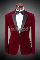 New Fashion Brand Men Casual Groom Costume Suits Wedding 2014 Luxury Men's Slim Fit Business Dress Suits Blazer Tuxedo Pants