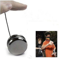 2014 New Arrival Magic Silver Round Stainless Steel Professional Yo-Yo Toys + String Free Shipping&Whloesale