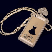 2014 Luxury Perfume Case Bottle Case Sexy Women Dress Casing Back for Iphone 4 4s 5 5s Galaxy s4 s5 Note 3 Free Shipping A222