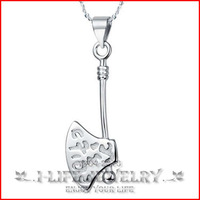 2014 Fashion 925 Sterling Silver Japan Korea Axe Pendants Wholesale Without Setting