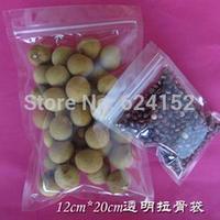 12x20cm household storage ZipLock Packing Bag Transparent PET /PE laminated Resealable Bags Thickness 0.15mm 100pcs/lot