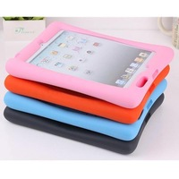NEW Shock Proof Protective Shell Safe Silicone Gel Soft Case Cover With Stand For Apple iPad 2 3 4th Free Shipping