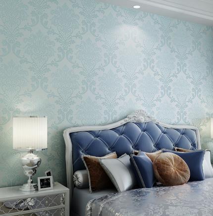 Europa 3d rilievo stereoscopico aqua blue tessuto carta da parati camera da letto soggiorno tv sfondo.jpg