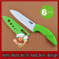 "Horn sharp hand 6 ""inch ceramic Knife / best quality best price/ Made of Zirconia  knife  /kictchen knife Freeshipping"