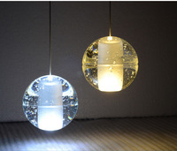 NEW arrived fashion clear or air bubble meteor shower crystal ball pendant lamp,stair Pendant light,G4 led bulb,LED crystal ball