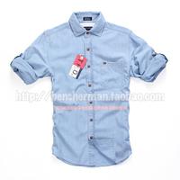 2014 new arrival TM American business casual slim long-sleeve denim shirt male shirt