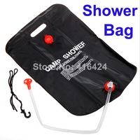 2014 New Arrival 20L Camping Hiking Solar Heated Camp Shower Bag Outdoor Shower Water Bag free shipping