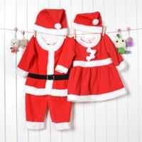 LS451 High Quality Christmas baby girl kid's baby dress set(2PC) or boy romper hat set/ Santa Christmas Masquerade,little sun