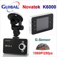 100% original K6000 Car Camera Novatek Chipset Car Video Recorder FHD 1920*1080P 25FPS G-sensor HDMI Car DVR free shipping