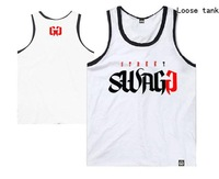 Street Swagg hip hop tank tops for men new arrival brand casual loose vest high quality print singlet man's fitness sports vests