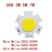 3W 5W 7W  COB LED beads  Pure white surface light source 300mA  Chip Free Shipping