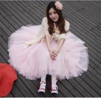 Angel Princess Five Layer Gauze Tutu Summer Long Women's Skirt Swing New 2014 Women Skirts Chiffon Maxi Skirt Girl Clothing