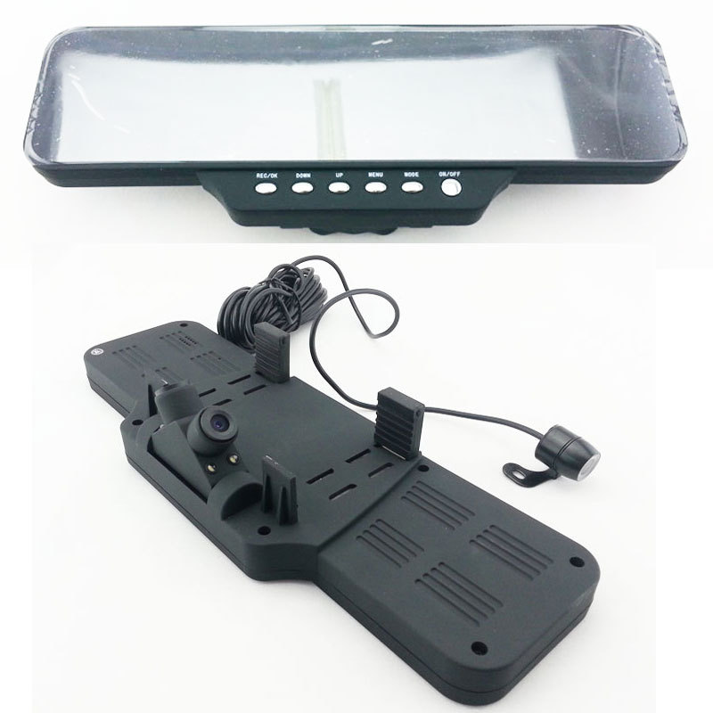 "HD1920*720P 4.3"" LCD Car DVR Black Box Rear View Mirror Wide Angle 180 Degrees G-Sensor(China (Mainland))"