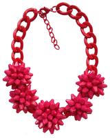 Christmas Gift Women Big-name Handmade Statement Exaggerate Acrylic Flowers Chunky Shourouk Pendant Necklace ND8323