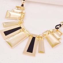 New 2014 Fashion Indian Elegant jewlery 5 color metal Rhinestone Leather Choker Collar Necklace for women