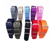 Hot sale ! New arrived 20 colors available- 1PCS High quality 18MM Nylon Watch band NATO straps waterproof watch strap