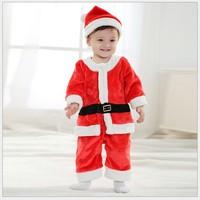 HB451 High Quality Christmas baby dress set or boy set(2PC), girl kid's Sanda Christmas Masquerade red,Free Shipping, Honey Baby