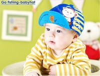 2014 New Arrival Go Fishing Baby Baseball Caps Baby Hats Children Hats Free Shipping