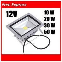 (DHL/Fedex Free Shipping)10W /20W/30W/50W 12V Outdoor LED Flood light lamps Waterproof Aluminium LED floodlights lighting