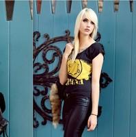 XS - XXL Nirvana Smile Letters Printed Black T-shirt  Cotton Rock Tee Free Shipping