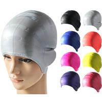 High quality adult Silicone waterproof swimming cap men & women waterproof earmuffs touca feminina swim cap swimming pool hat