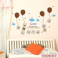 Balloon Photo Frame Wall stickers for Kids Children Room Decoration Vinyl Stickers Wallpaper