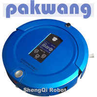 Mop new multifuction robotic vacuum cleaner, LCD display cleaning machinery