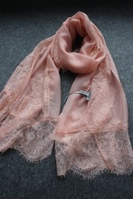 6 Colors,New Arrival Lace Silk Scrf, Women Fashion Elegant Summer Sunscreen Scarves Shawl,Birthday Gifts,200x90cm ,Free ship(China (Mainland))