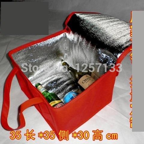 atacado 2 peças maior bolsa térmica isolados saco térmico lancheira para crianças ao ar livre saco térmico(China (Mainland))