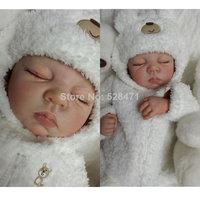 22 inches Very soft Silicone vinyl reborn baby doll lifelike sleeping handmade newborn baby soft toys