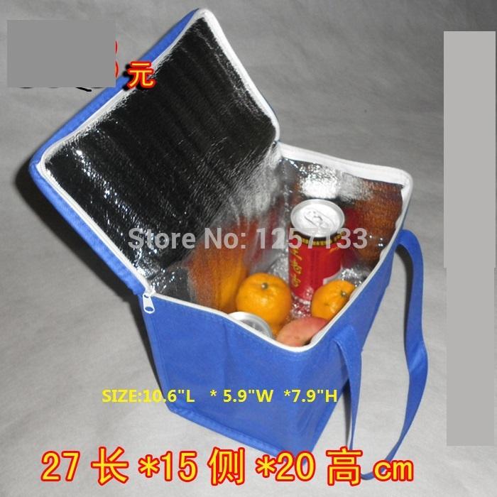 atacado 2 peças azuis bolsa térmica isolados saco térmico lancheira para crianças ao ar livre saco térmico(China (Mainland))