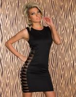 MC17978 Hot Sale Free Shipping Women Sexy Black Vintage Summer Bodycon Bandage Dress