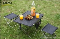 Outdoor Backpacking Camping Picnic Aluminum Alloy Ultra-Light Portable Durable Folding Table Free shipping