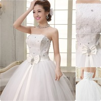 Custom made Free Shipping hot Girls Lace Up Bridal Gowns Dresses Sexy Fancy Formal bridal veil Wedding Dresses  2014 WH0417