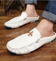 New fashion design Popular Shoes Flat Leather boots Driving Moccasins Slip On men's shoe Men footwear casual shoe Size6.5-10