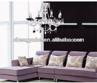 Free Shipping 8 lights black crystal chandeliers for living room 110-240V Voltage