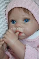 "TOP QUALITY 22""\55 cm silicone vinyl reborn baby doll realistic newborn baby toys Birthday gift"