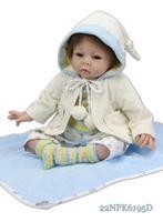 "Lifelike real baby doll 22"" silicone vinyl newborn baby doll handmade doll realistic reborn baby doll new style"