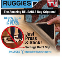 Promotion!! Free Shipping Ruggies Rug Grippers As Seen On TV 8pcs/set, 120 sets (4pcs rubber ruggiers + 4pcs sticks/set) per lot