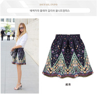 Fashion Wild Explosion of Floral Printed Skirt Flounced Skirts Hot Sell Skirts