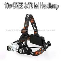 5000 Lumen Super Bright 3X CREE XML T6 LED Headlamp Headlight 18650 LED Head Light Lamp with 4 Modes