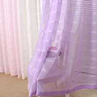 Fashion quality living room curtain solid color screens finished screens curtain embroidered sheer curtains gauze curtain
