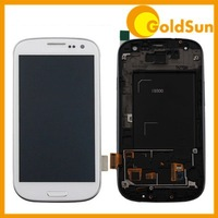 Original LCD Display Touch Screen Digitizer Assembly with Frame For Samsung i9300 9300 Galaxy S3 Siii Blue White i9305 T999 i747