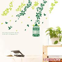 Garden Girds DIY Vinyl Wall Decals Waterproof Wall Decor TV/ Restaurant/ Bedroom Background Wall Sticker
