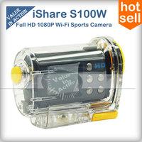 iShare S100W Full HD 1080P Action Camera Cam Video 30M Waterproof Digital Sport Camera Professional mini camcorders Filmadora