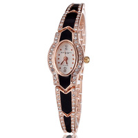 2014 New arrival women dress watch rose gold plated wristwatch rhinestones 4colors quartz analog ladies fashions watches