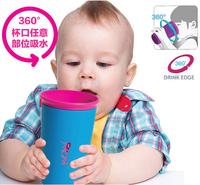 266ml Children's Leak-proof School Drinking Cups Magic Training Bottles Glass Beaker Spill Free Kids Cup Drink