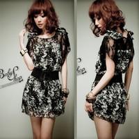 *2014 summer silk flower bud silk chiffon dress big yards dress