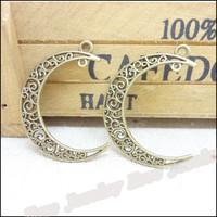 55 pcs Charms Moon Antique bronze  Zinc Alloy Fit Bracelet Necklace DIY Metal Jewelry Findings